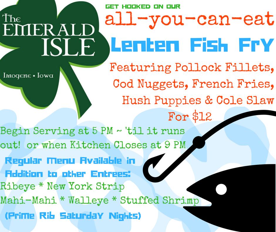 Emerald isle imogene ia for All you can eat fish
